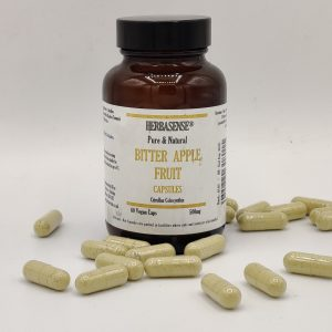 BITTER APPLE TUMMA FRUIT POWDER CAPSULES BOTTLE