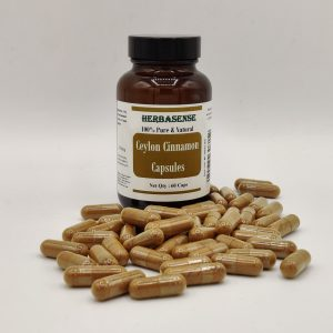 CINNAMON BARK POWDER CAPSULES IN BOTTLE